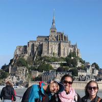 Souvenir d'étudiant du CIDEF au Mont Saint Michel