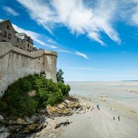 Le Mont Saint Michel où la mer monte très vite !